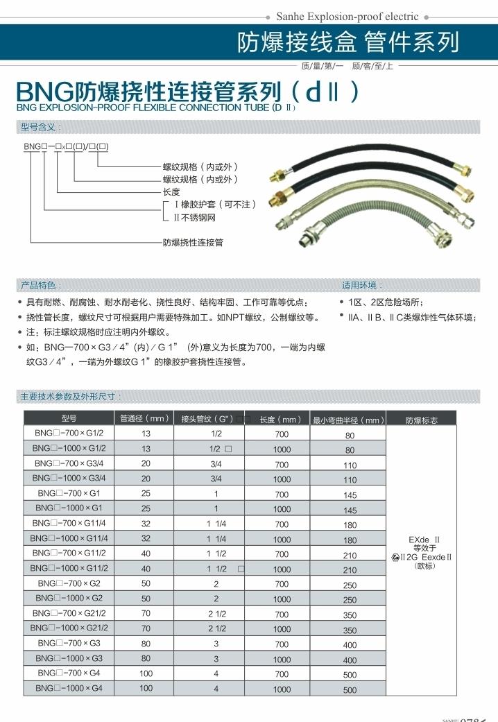 BNG易胜博挠性连接管系列(dII)