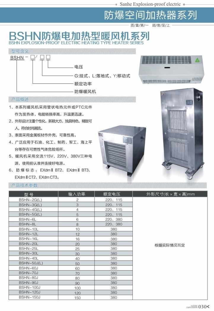 BSHN易胜博电加热型暖风机系列