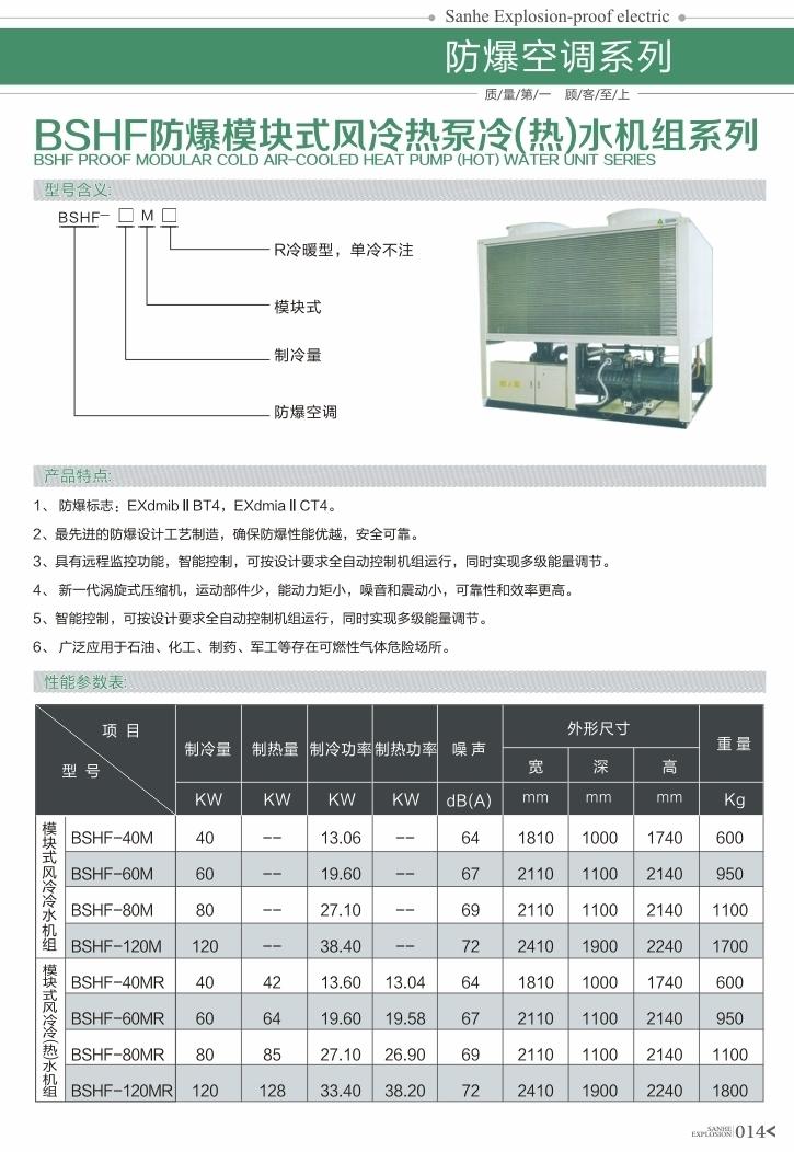 BSHF好运彩快三app模块式风冷热泵冷(热)水机组系列